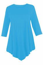 RSVH WVC Ladies Womens Plus Size Three Quarter Sleeve Round Neck Tunic Tops