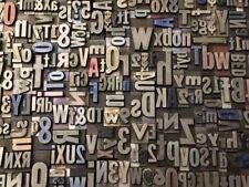 Lot of 50 VINTAGE Metal LETTERPRESS Print Type Block Alphabet Letters & Numbers