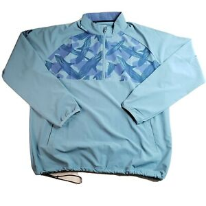 Adidas Golf Men's 1/4 Zip Long Sleeve Windbreaker Jacket Raw Green Size XL