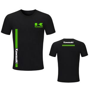 Kawasaki T-Shirt Women Men Kids Motorbike Racing Kawa Short Sleeve Tops UK12