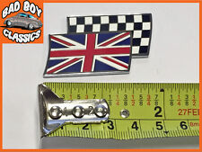 Union Jack Flag croce smalto Autoadesivo CLASSIC CAR BADGE EMBLEMA