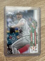 2020 Topps Holiday Justin Verlander Ornament SP Short Print Houston Astros