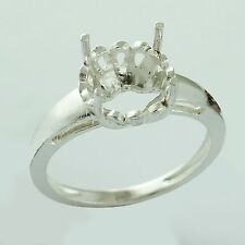 Semi Mount Round Shape 10 MM Ring 925 Silver Authentic Eternity Wedding Jewelry
