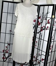 BEADED COCKTAIL SKIRT SUIT IVORY 2X PLUS