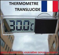 THERMOMETRE ECRAN LCD DIGITAL TRANSLUCIDE TRANSPARENT VENTOUSE VOITURE PILE