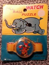 *SALE*1960's Pill Ball Puzzle Toy Watch; mint on card