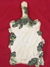 Indigo Gate For Silvestri Cutting Board Glass Cheese & Wine Board Marbled W/ Ivy