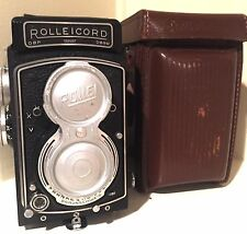 RARE 1954 Vintage Rollei Rolleicord V camera, TLR, Xenar lens 3,5/75mm + case