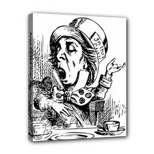 Mad Hatter Alice In Wonderland Canvas Art Print 8 by 10 Inches