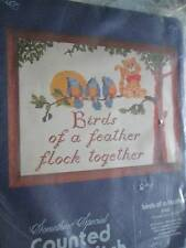 Something Special Birds Of A Feather Cross Stitch Kit-14x11 Inches
