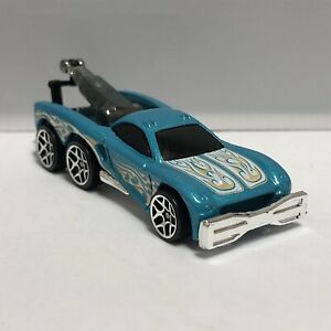 Hot Wheels Blue Tow Jam Tow Truck 1:64 Scale Diecast Toy Model Mattel