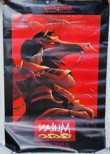 Mulan Disney ⚓ Anniversary Original Movie Poster Horse Khan Hero RARE Vintage