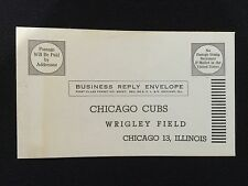 CHICAGO CUBS VINTAGE 1950'S BASEBALL TICKETS ORDER REPLY ENVELOPE NEW CONDITION