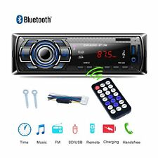 Car Stereo Audio Radio FM SD USB AUX Input MP3 Player Bluetooth In-Dash Single