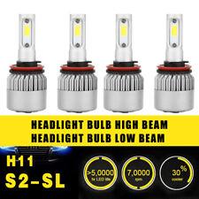 4PCS H11 Headlight Coversion LED Bulb Kit High Beam 97500LM 650W White 6000K