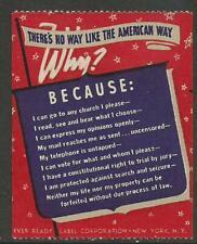"USA Scouts  ""American Way""  Propaganda Poster Label"
