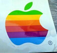 Genuine Vintage APPLE Rainbow sticker Decal & 2 White stickers 6.5x7cm RARE