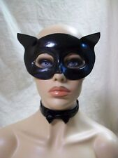 Fever Sexy Shiny Black Cat Mask Collar Eyemask Catwoman Panther Roleplay Fantasy
