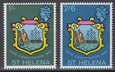 St. Helena 1967 ** Mi.182/83 Verfassung Constitution Schiff Ship Wappen [sq5960]