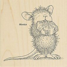 HOUSE MOUSE Christmas Mint Wood Mounted Rubber Stamp STAMPENDOUS HMQ15 New