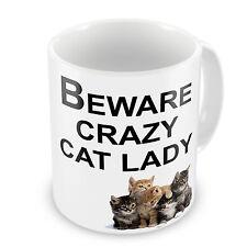 Beware Crazy Cat Lady Novelty Gift Mug