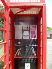 More details for vinyl printed interior print to fit a k6 red telephone box full size sticky back