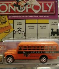 Johnny Lightning Monopoly Get Out Of Jail Free 1956 Chevy Bus!