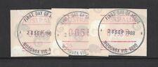 1988 Australia Frama Possum Design button set 3 CDS issue date
