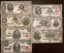 Reproduction Full Set 1890 US Treasury Notes $1-$1000 See Description