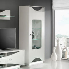 Vitrinen Für Wohnung | Ebay Wohnzimmer Vitrine Weis Hochglanz