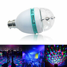 Novità RGB LED DISCOTECA LAMPADINA ROTANTE COLORATA LAMPADINA NATALE B22