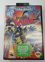 X-Men (Sega Genesis, 1993) Authentic w/ Case & Manual Tested No Poster