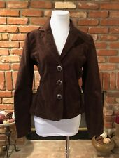 BoHo CHIC Chocolate Brown Light Cord Stretch Jacket Blazer sz M / L