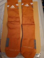 Adidas traxion socks large Texas orange crew