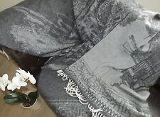 laine Couverture avec cachemire Part, Couvre-lit, canapé-couverture 135x200 cm