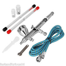 0.25+0.3+0.5mm 9cc Pro Aérographe/Pistolet set Gravité Double-Action Airbrush Fr