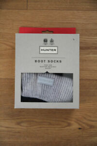 Hunter Kurze Stiefel Socken Unisex grau Strick NEU - EU 39/42 - L Grey Boot