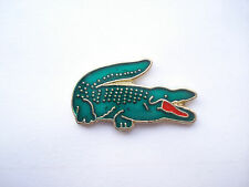 RARE VINTAGE ENAMEL LACOSTE AFTERSHAVE POLO CROCODILE SIGN LOGO BROOCH PIN BADGE