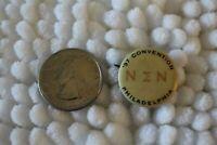 1897 Philadelphia Convention Nu Sigma Nu Medical Fraternity Pin Pinback Button