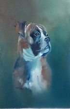 More details for original oil painting boxer dog pup by william jamison 6