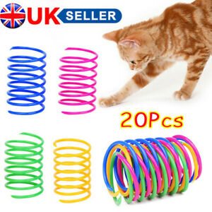 20x Cat Kitten Spring Toy Bouncy Plastic Training Toys Teasing Playing Cat Toy Y