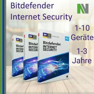 Bitdefender Internet Security 2021 1 3 5 10 PC 1 2 3 Jahre VPN