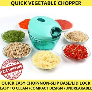 Pulling Vegetable Food Chopper Slicer Processor Hand Blender Kitchen Tool UK STL