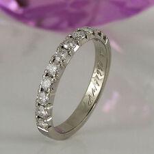 Natürliche Ringe im Eternity-Stil aus Weißgold mit Diamanten