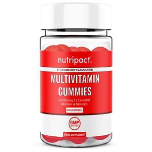 Multivitamins A-Z Strawberry Gummies 60 Chewable Vitamins Vitamin D Vit C Zinc +