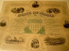 Rare Civil War certificate document 24th Regiment Maine Joshua Chamberlain