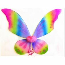 Rainbow Adult Tinkerbell Pixie Butterfly Fairy Wings Dress Up Girls Costume