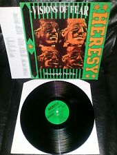"""HERESY LP -""""VISION OF FEAR/ DISCOGRAPHY PART TWO"""" 1992/ LF 045"""