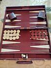 """Vtg Kingstone XLarge Backgammon  Ivory & Brown Bakelite  18"""" x 11"""" x 2  Complete"""