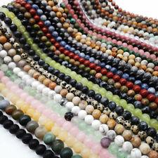 Wholesale Natural Gemstone Round Ball Spacer Loose Beads 4mm 6mm 8mm DIY Making